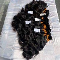 Premium quality indian single drawn temple virgin brazilian remy bulk human hair