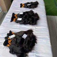 Super quality Single Drawn  Human Hair Bundles Brazilian Raw Virgin bulk hair extensions