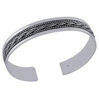 Plain Rawa Braids 925 Sterling Solid Silver Bangle