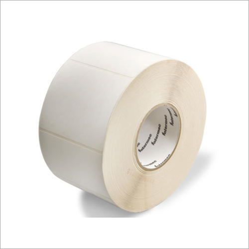 White Plain Barcode Thermal Label Roll