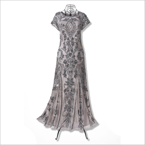 Beaded Evening Long Gown