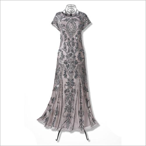 Modern Beaded Evening Long Gown