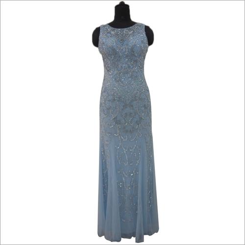 Ladies Beaded Evening Slim Fit Gown