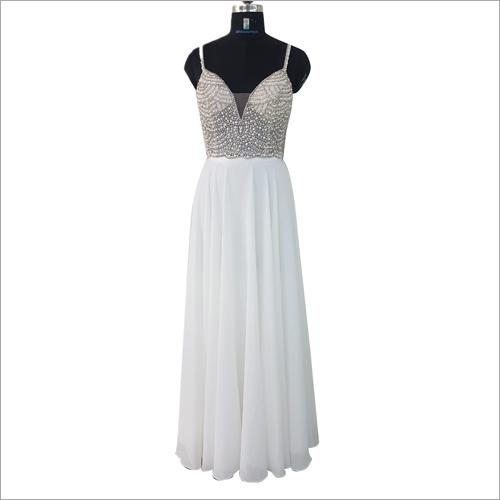 Ladies Sequin Evening Floral Gown