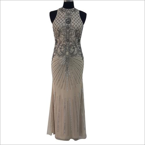 Ladies Sequin Evening Fit Gown
