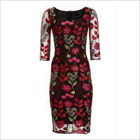 Ladies Embroidered Short Dress