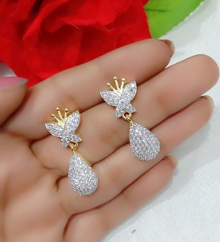 American Diamond Earnings Set