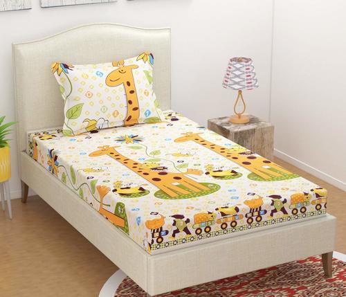 Divine Overseas Microfiber Kids Printed Designer Bed Sheet (60