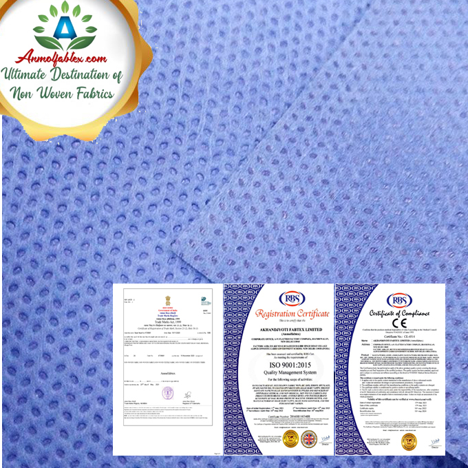 PREMIUM QUALITY FABRIC, WATERPROOF, BREATHABLE, SOFT AND COMFORTABLE SSMMS FABRIC NON WOVEN