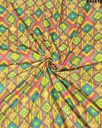 Multicolored Digital Print Galaxy Cotton Fabric