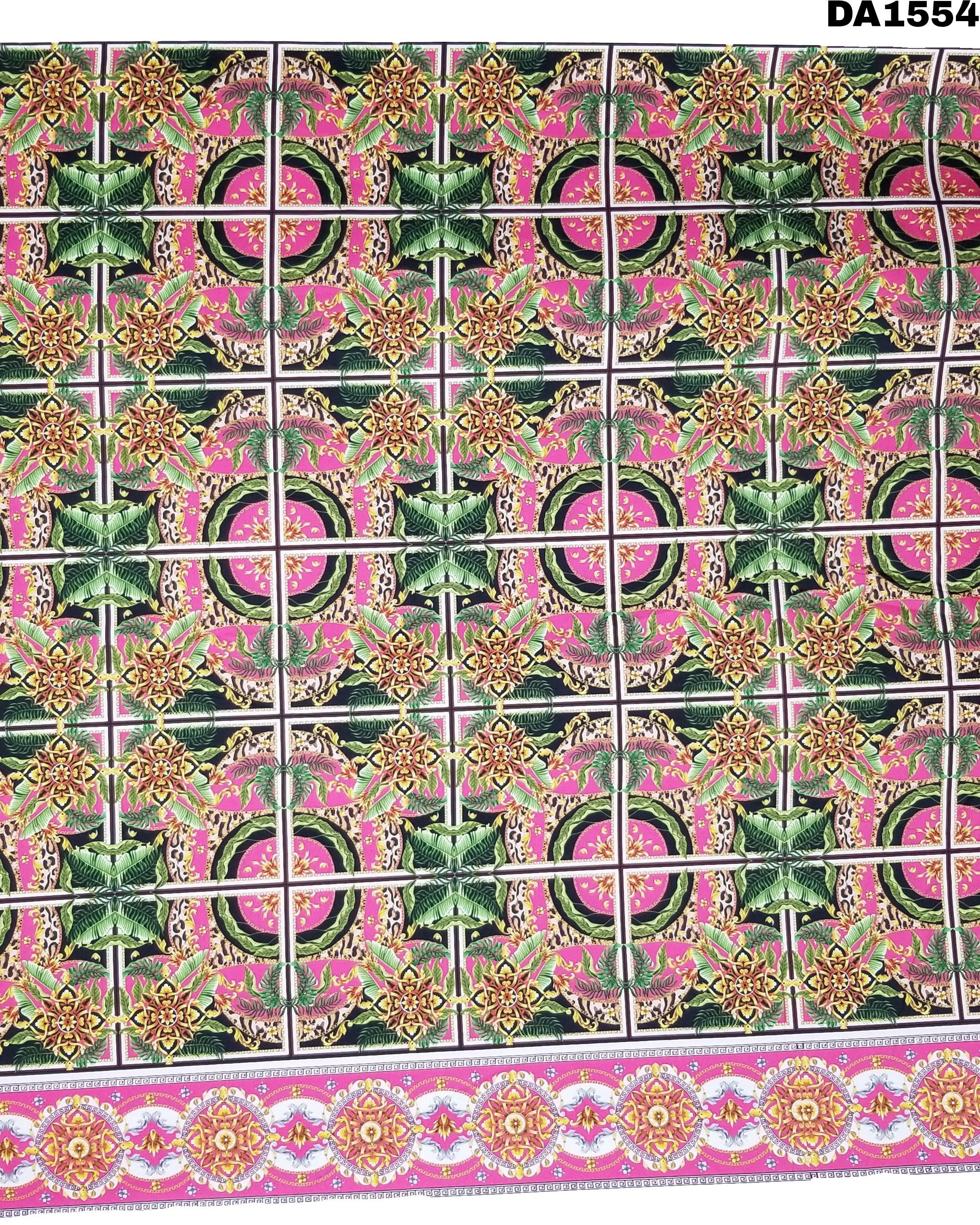 Beautiful Digital Print Design On Rayon Slub Fabric