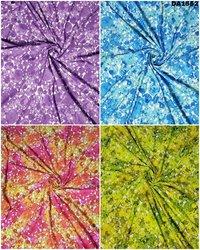 Digital Print Design On Rayon Slub Fabric