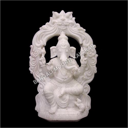 Ganesh On Singhasan Statue
