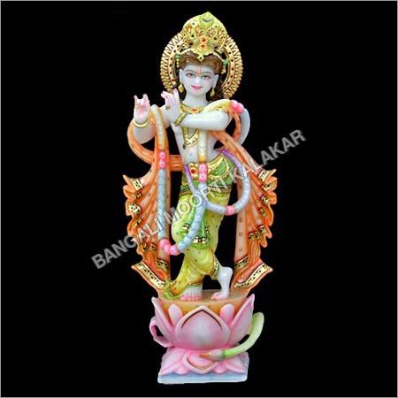 Krishna Standing On Lotus Statue