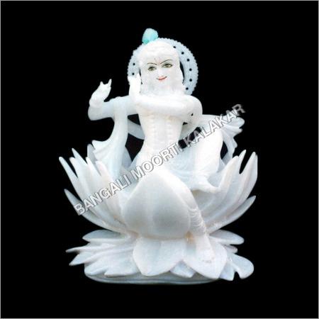 Krishna Sitting On Lotus Statue