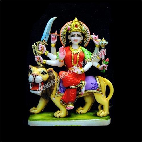 Multicolor Sherawali Mata Statue