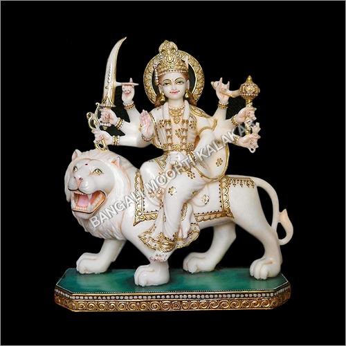 Marble White Durga Statue