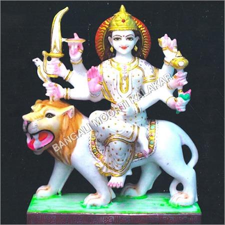 Marble Colored Durga Statue