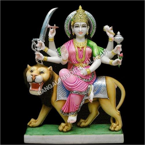 Marble Sherawali Mata Statue
