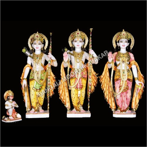 Marble Colored Ram Darbar Statue