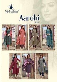 Aarohi Vol-5 Chinon Bottom Kurti Catalogue