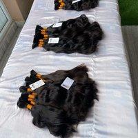 Single donor raw unprocessed natural virgin human bulk hair