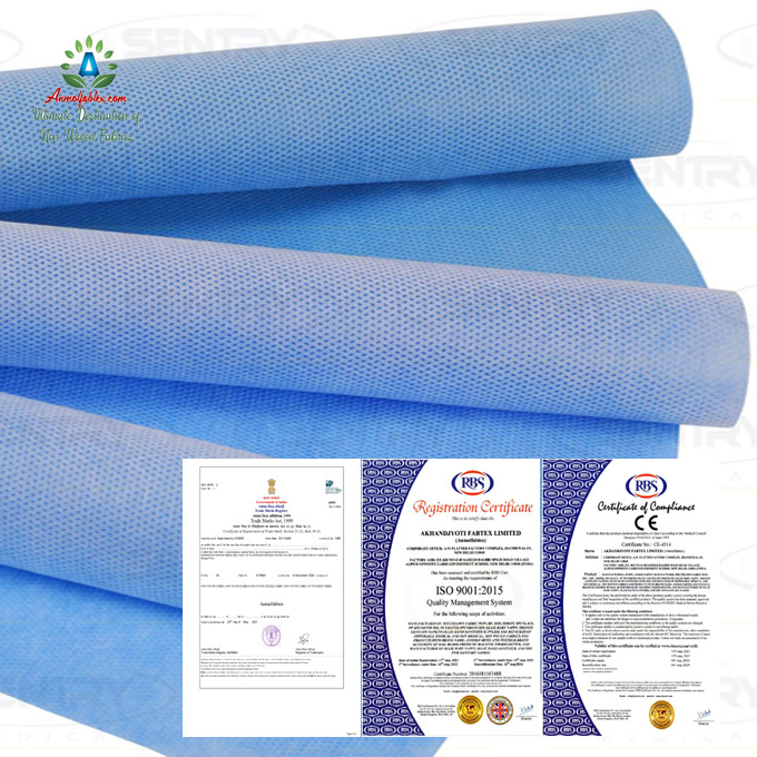 SURGICAL GOWN MAKING MATERIAL SMS SMMS SMMMS NONWOVEN FABRIC