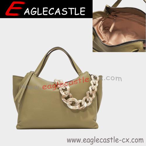 New Style Custom Hot Seller handbag Women's Big Capacity Soft Plain PU Leather Tote handbag Bag
