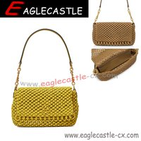 Fashionable woven one-shoulder sloping straddle bag for women