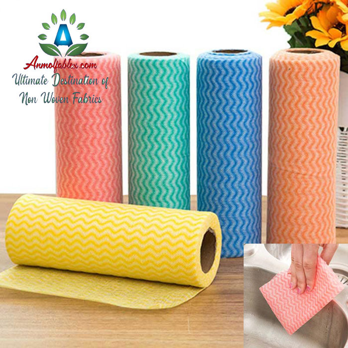 SPUNLACE NONWOVEN FABRIC (NO DUST, HIGH IN QUALITY)