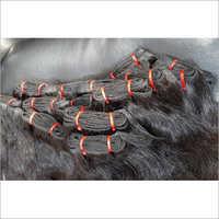 Machine Wefted human Hair