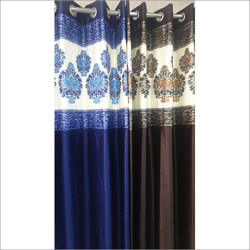 Polyester Long Crush Patch Curtains