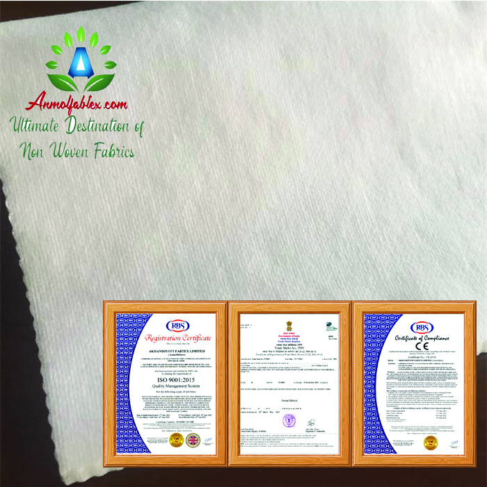 SPUNLACE NON WOVEN NONWOVEN FABRIC 40GSM FOR WIPES
