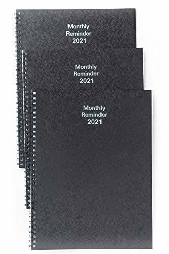 Mahavir Monthly Reminder 2022 - Medium Size - (Black)