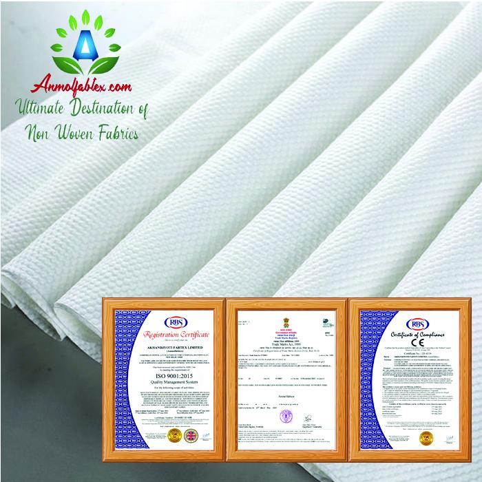 100% PET SPUNLACE NONWOVEN FABRIC FOR WINDOW USE