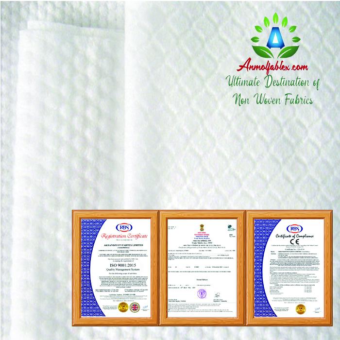 MODIFIED FIBER SPUNLACE NONWOVEN FABRIC ANTI BACTERIA FOR COMPRESSED TOWEL