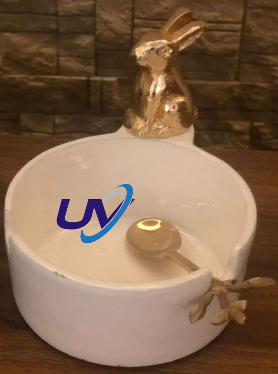 Enamel Coated metal bowl with spoon