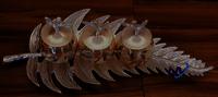 Metal Leaf tray with 3 Jars