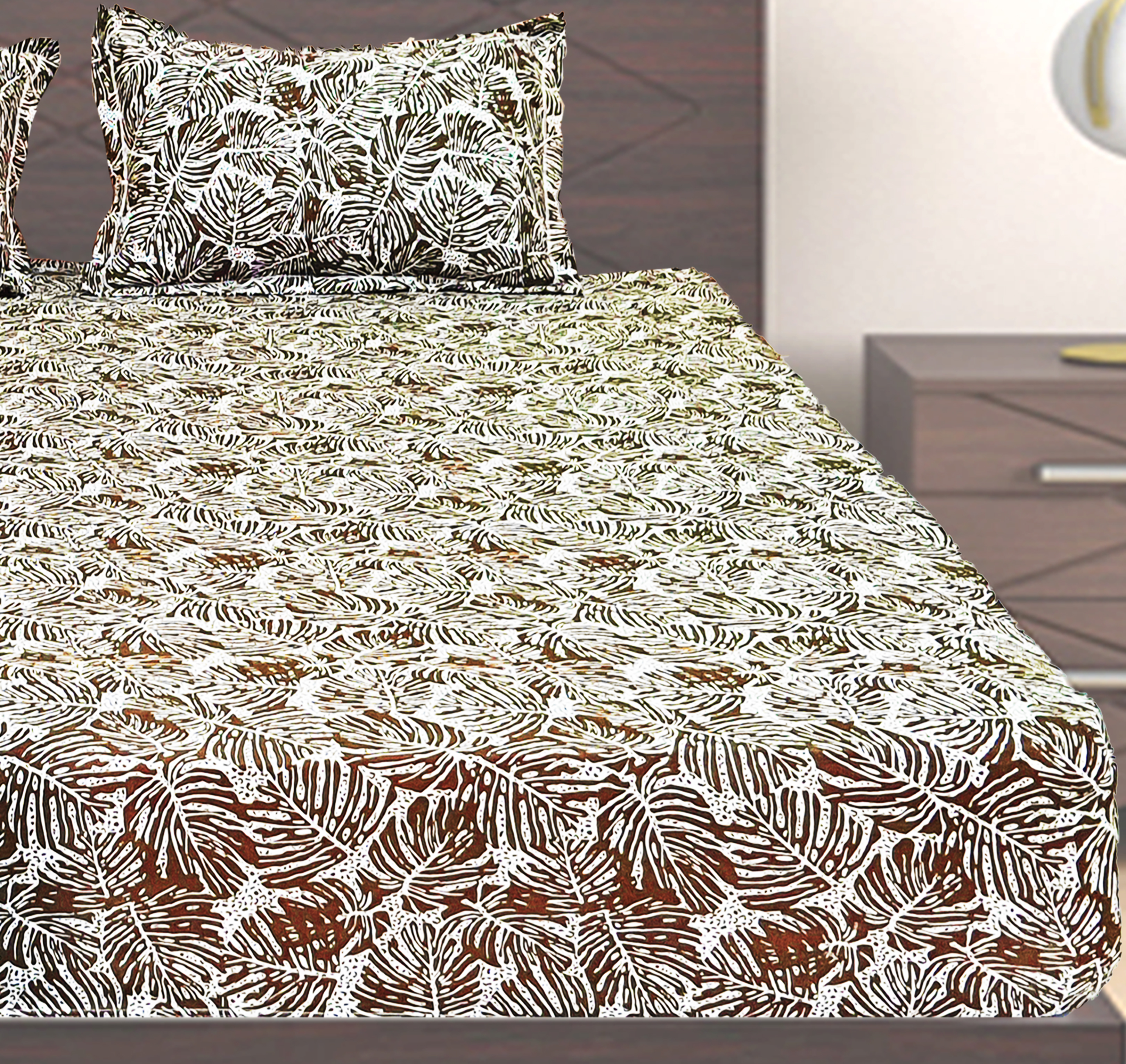 Aalingan's  100% Cotton Printed Jersey Fitted Sheets