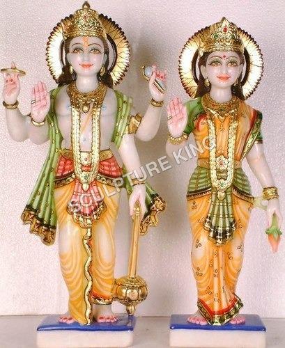 Laxmi-Narayan Marble Statue