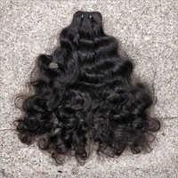 Black Indian Machine Weft Hair