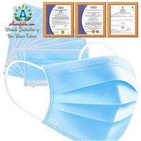 2020 HOT SALE BLUE WHOLESALE ADULT DAILY NONWOVEN MELT-BLOWN 3 PLY FACE MASK