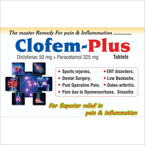 Diclofenac 50mg Paracetamol 325mg  Tablets