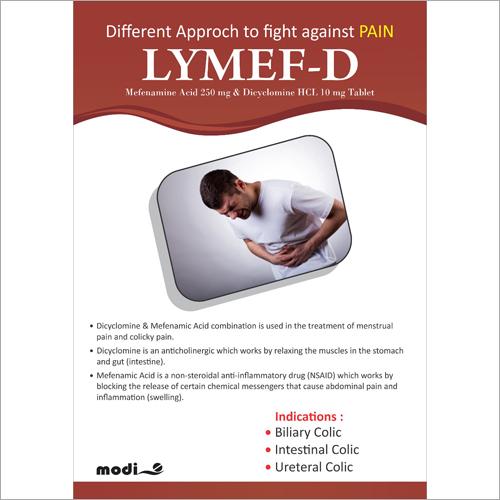 Mefenamine Acid 250mg and Dieyelomine HCL 10mg Tablets