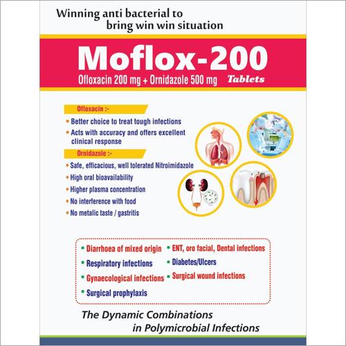 Ofloxacin 200mg Ornidazole 500mg Tablets