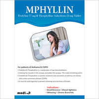 Etofyline 77mg and Theophylline Anhydrous 23mg Tablets