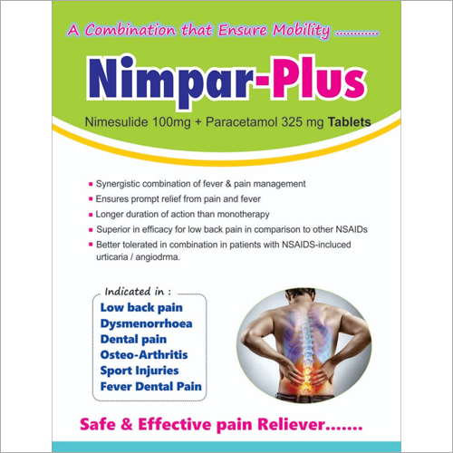 Nimesulide 100mg Paracetamol 325mg Tablets