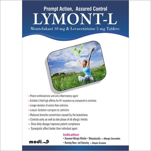 Montelukast 10mg and Levocetirizine 5mg Tablets