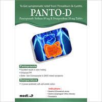 Pantoprazole Sodium 40mg and Domperidone 10mg Tablets