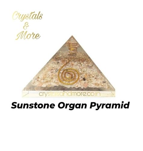 Sunstone Orgonite Pyramid